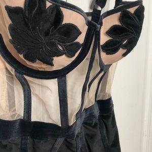 Victoria's Secrect Velvet Bodysuit